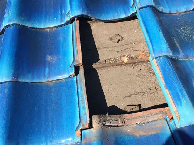 岡山市南区 屋根補修工事 防水シートの劣化