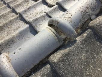 岡山市中区 屋根修理瓦がズレています。