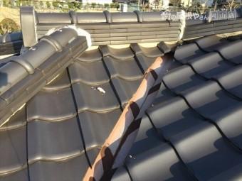 岡山市南区 雨漏り修理 瓦屋根点検 天井にシミ
