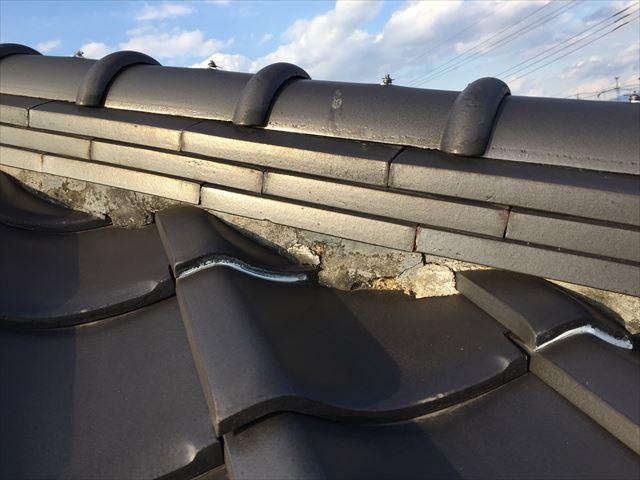 岡山市南区 雨漏り修理 瓦屋根点検 漆喰劣化
