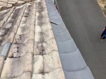 岡山市南区のケラバの瓦の割れ