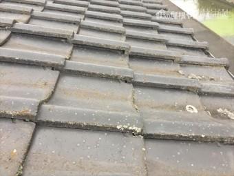岡山市南区 雨漏り修理 瓦の浮き
