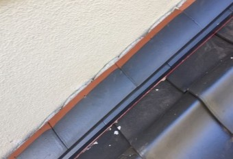 岡山市北区 屋根瓦葺き替え 雨押え板金工事