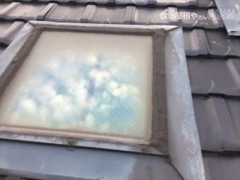 岡山市南区でトップライトから雨漏り