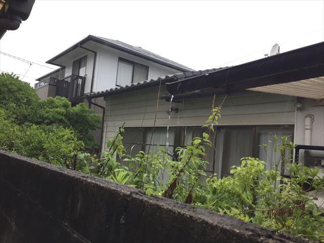 岡山市南区で雨樋点検。