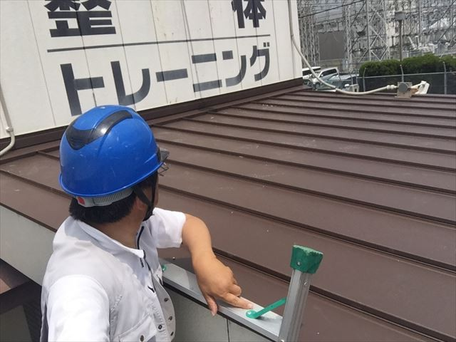 岡山市南区で板金屋根完成