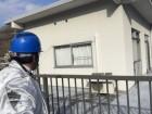 高梁市 陸屋根を瓦屋根に替える工事の点検模様