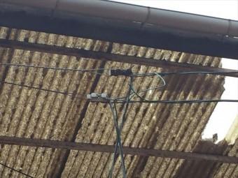 岡山市北区 屋根破損 ほかの屋根材も割れています