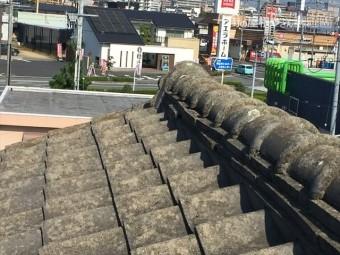 岡山市北区 雨漏り修理 セメント瓦
