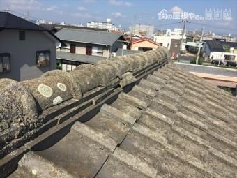 岡山市北区 雨漏り修理 胸の瓦ずれ