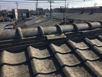 岡山市北区 雨漏り修理 瓦ずれ