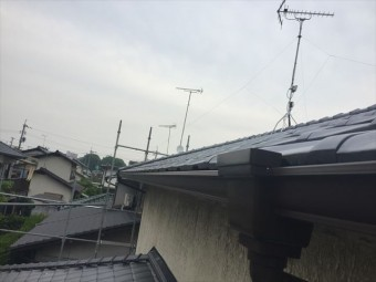岡山市南区 雨どい工事