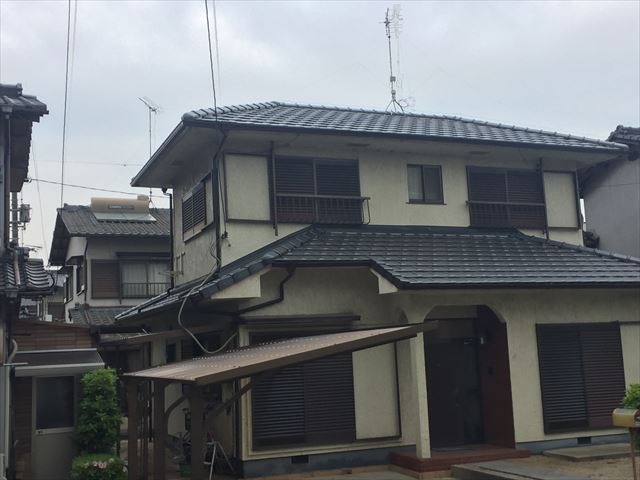 岡山市南区 屋根瓦取り換え 完工後