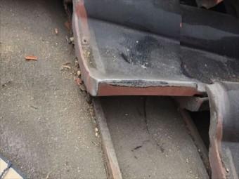 倉敷市雨漏り修理。瓦をめくり点検