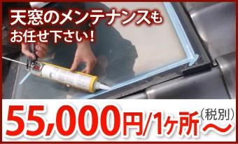 天窓のメンテナンスもお任せ下さい!1ヶ所55000円~